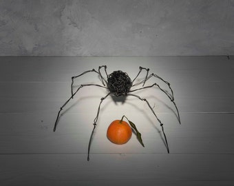 Spider sculpture, husband gift, steampunk art, Home Decor, woodland decor, Wire spider, Wire Sculpture, insect decoration