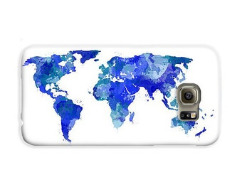 Mens travel etsy phone case travel case blue world map of the world gifts for him map painting iphone 8 case samsung galaxy s8 case travel gifts for men gumiabroncs Gallery