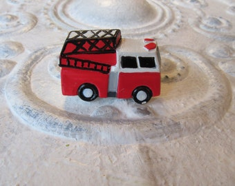 2 Fire Truck Knobs Whimsical Cabinet or Drawer Knobs or Pulls For Boys Bedrooms Bathrooms Playrooms Ready to Ship B-5
