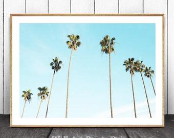 Palm Tree Print, Palm Tree Art, Tropical Print, Tropical Wall Art, Tropical Art Print, Tropical Wall Decor, Ocean Decor, Ocean Art, Tropical