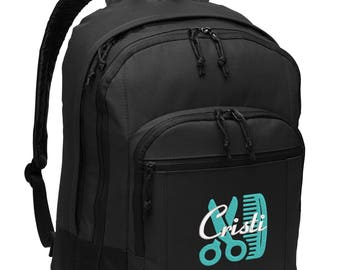 Hair Stylist #2 Personalized Back Pack Embroidered