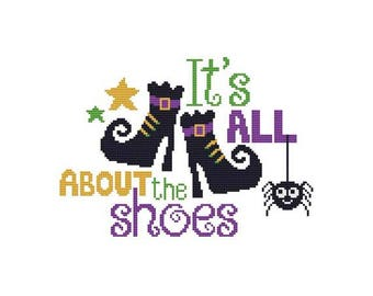 It's All About The Shoes Counted Cross Stitch PDF Pattern