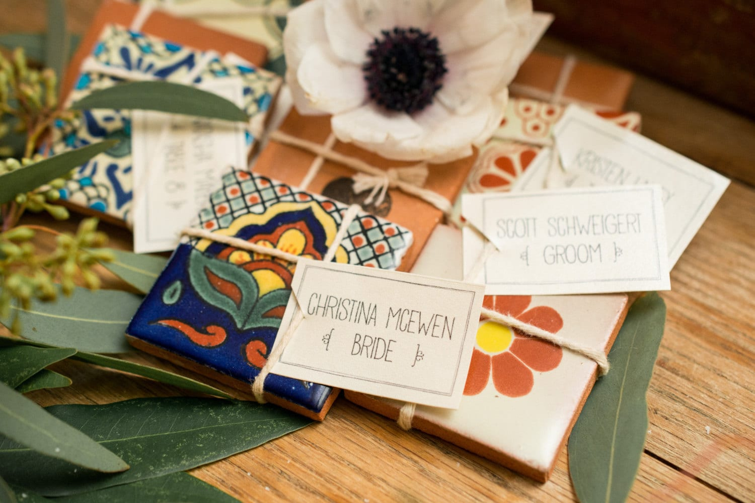 100 Small Mexican Spanish Tiles For Wedding Favors Or Gifts