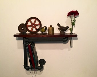 Industrial Vintage Style Shelf In multi-purpose hydraulic hoses!