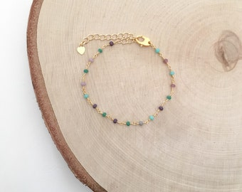 Cecilia bracelet - multicolor bead