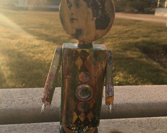 Mixed Media Art Doll - Unique, One-of-a-Kind! Can Be Personalized!