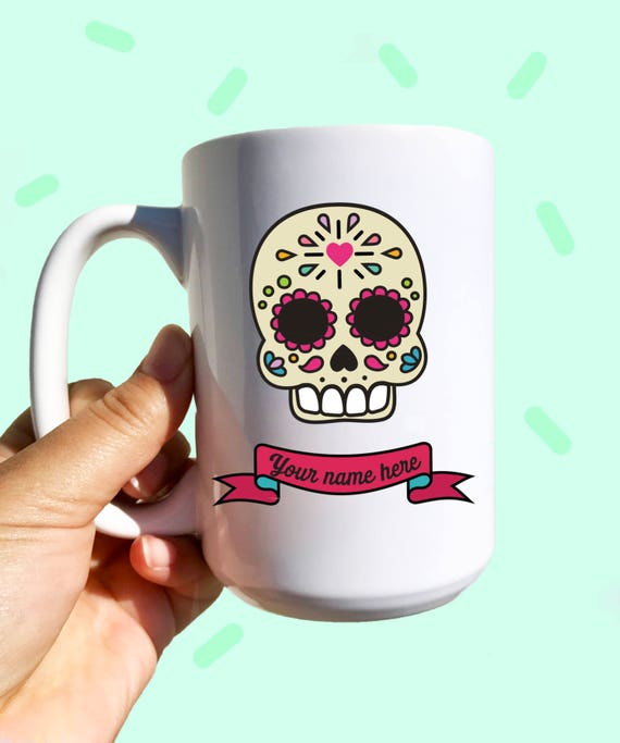 Custom Sugar skull No. 2 -Your own name on it!