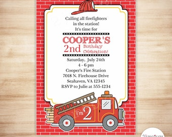 Firetruck Birthday Decorations Fire Truck Party Printables