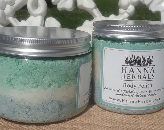 Featured listing image: Island Breeze Body Polish - Tropical Sugar Scrub - blue body polish - lily body polish - jasmine body polish - Tropical Body Polish