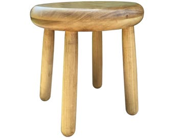 Small Wood Four Legged Stool, Modern Plant Stand, Choose Finish By  Candlewood Furniture,