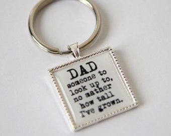 Gift for dad keychain, Birthday gift for dad, gift for daddy, custom keychain, custom quote keychain, gift for father