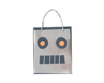 Robot Party Favor Bags, Meri Meri Party Decor, Party Supplies, Party Theme