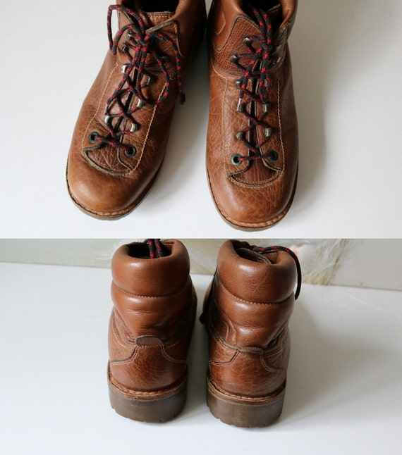 Camping Biker Boots Camping Walking Boot Leather Boot Size 41 Rust Boot Vintage Brown Unisex Mountain wRCzqxtnC
