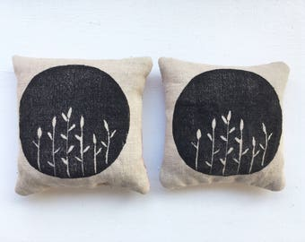 Floral lavender bags - set of two