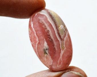 36.5 Cts Natural Rhodochrosite Oval Shape Pink Rhodochrosite Gemstone Cabochon 29x17x6 MM R16385