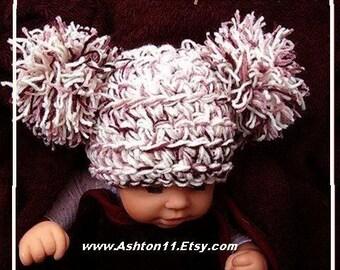 INSTANT DOWNLOAD Crochet Pattern PDF 164.Photo Prop, 30 Minute Jumbo pom pom Koala Bear Hat  make it newborn to adult