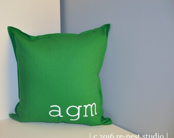 modern monogram throw pillow - personalized pillow/accent pillow/custom pillow/modern monogram/housewarming/baby nursery/baby shower