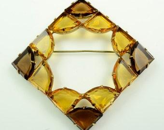 Regency© Two-color Fan-shaped Rhinestone Pin