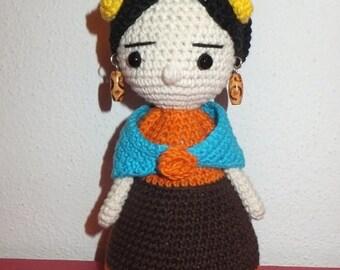 Frida Kahlo - Crochet Amigurumi
