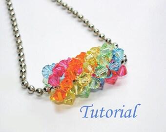 Beading Tutorial - Beaded Rainbow Tube Pendant
