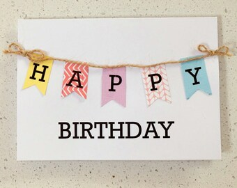 Happy Birthday Flags - Birthday Card