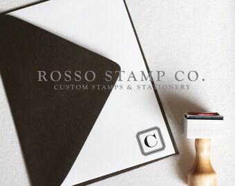 Monogram Stamp, Wedding Monogram Stamp, Custom Stamp - Style No. 4