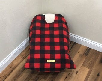 Infant Car Seat Blanket, car seat cover, buffalo plaid car seat cover, car seat carrier blanket, car seat coat, baby carrier blanket, baby