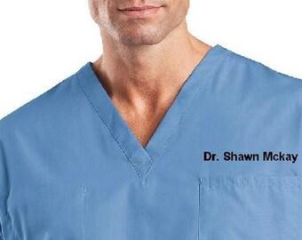 Personalized Medical Scrubs for men or Ladies V-Neck Scrub ,scrub pants/  scrub