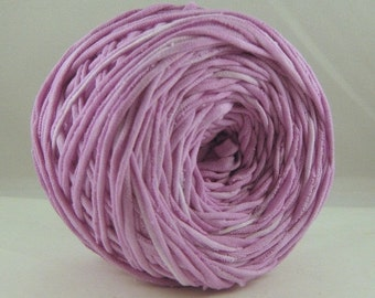 T Shirt Yarn,  Hand Dyed, T-Shirt Yarn, Lilac, 60 yards, Lilac Tshirt Yarn