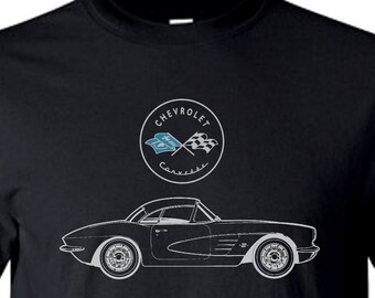 CORVETTE Tee Shirt in Black  M,L,XL