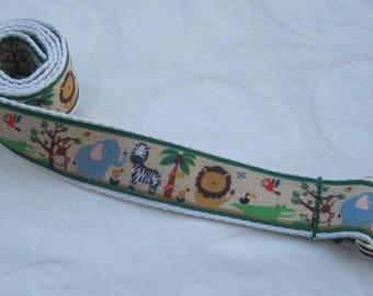 Childrens belt Jungle adjustable for kids toddler boy girl handmade elephant lion giraffe teddy bear