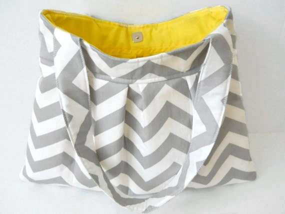 Items similar to Pleated Purse PDF Pattern Sewing Chevron Diaper Bag ...