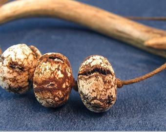 Mahogany Seed Mens Adjustable Necklace N132