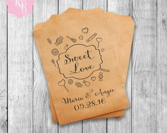 Wedding Favor Bags Wedding Favors Personalized Party Favor Bags Custom Wedding Favors Set of 20 Style 009