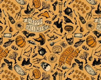 Happy Halloween by Patrick Lose - Happy Halloween Orange - Cotton Woven Fabric