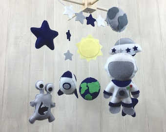 Baby mobile - Space mobile - astronaut mobile - alien mobile - rocketship mobile - earth - star mobile - sun - bunting - space nursery