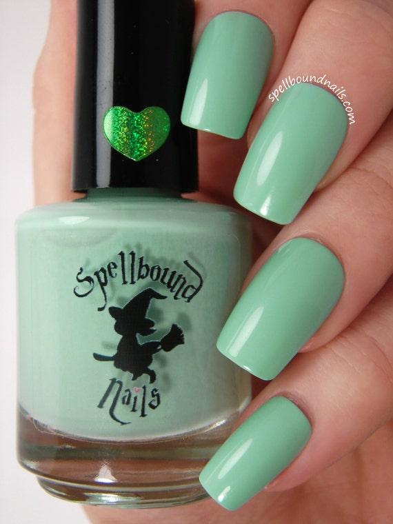 Menta Frappe - esmalte de uñas de crema de menta verde de ...