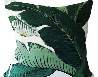 Tommy Bahama Palm Leaves Outdoor Decorative Pillow Cover - Toss Pillow - Both Sides - 12x16, 12x20, 14x18, 14x24, 16x16, 18x18, 20x20, 22x22