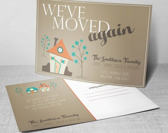 New Address Postcards, We Have Moved Postcards, We've Moved Again Announcements, Set of 20 5x7 Postcards