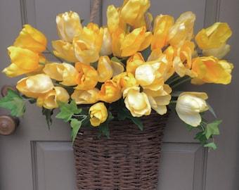 Yellow Tulip Market Basket