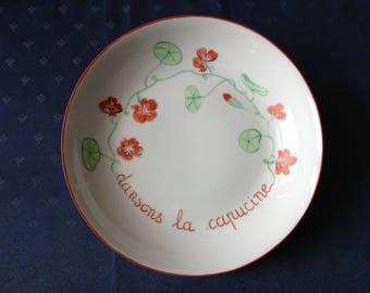 """Porcelain soup plate """"Let's Dance the alcove"""""""