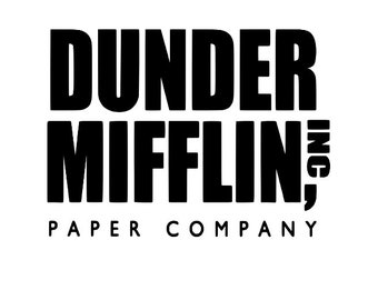 Dunder Mifflin The Office Funny Vinyl Car Decal Bumper Window Sticker Any Color Multiple Sizes Jenuine Crafts