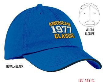 40th Birthday, 1977 Birthday, 40th Birthday Gift, American Classic Embroidered Hat, 40th Birthday Idea, 40 Years Old, 40 Birthday Gift