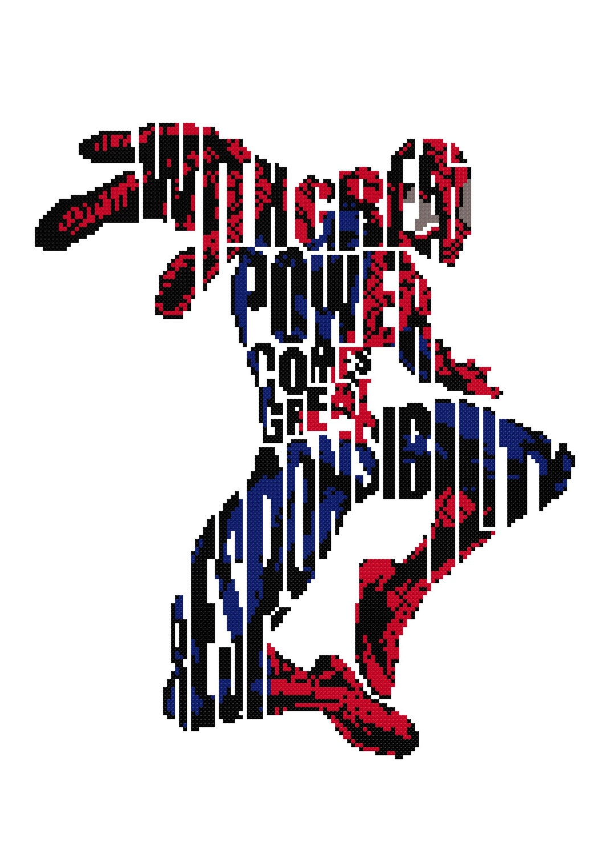Spiderman cross stitch patternspiderman patternsuperhero cross this is a digital file jeuxipadfo Images