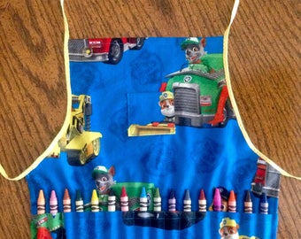 Crayola crayon apron for toddlers