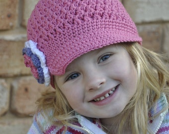 Crochet Hat Pattern - Textured Newsboy Pattern No.407 TEN Sizes Newborn Baby Toddler Kid uses DK weight (Australian 8ply) yarn Digital PDF