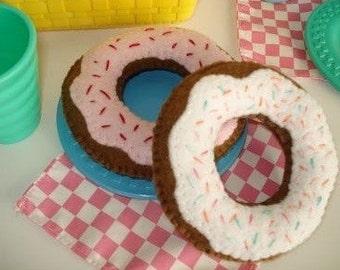 Diy fabric Doll Donut felt toy dollhouse pattern pin cushion