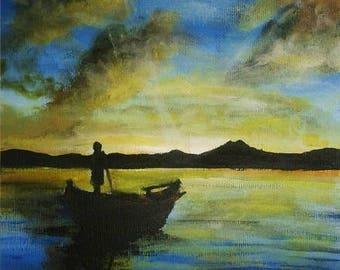 Boat - ORIGINAL Painting