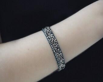 Sparkling Strass bracelet -  Contemporary bracelet - Valentine's day - Trendy girl