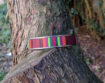 Louise Pienne colorful leather Cuff Bracelet